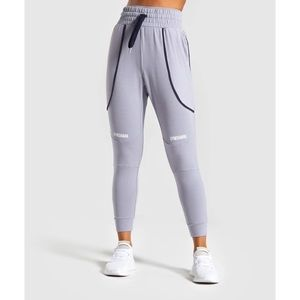 Gymshark Movement Mesh Joggers in Lilac Grey, Size Small